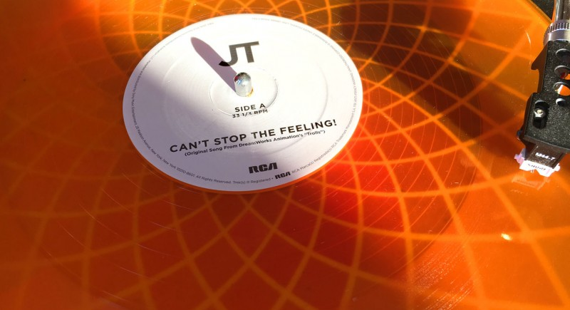 Justin Timberlake - Can't Stop That Feeling Orange Vinyl