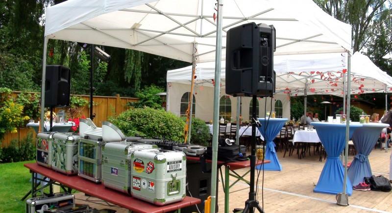 Hochzeits-DJ, Gartenparty, Gartenhochzeit, Hochzeitzuhause Bochum
